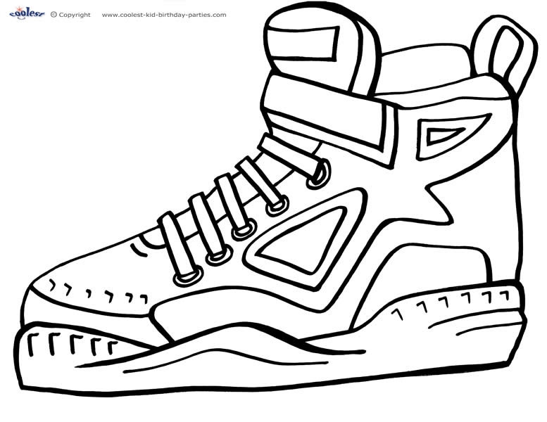 Best ideas about Free Printable Coloring Sheets Shoes . Save or Pin Free Printable Basketball Coloring Pages The Player The Now.