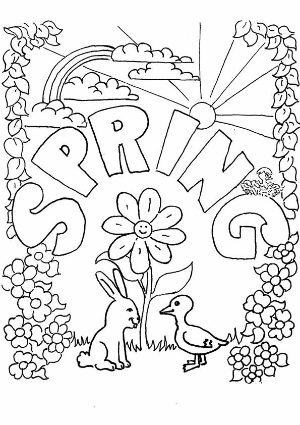 Free Printable Coloring Sheets Spring For Adults  Spring Coloring Pages Best Coloring Pages For Kids