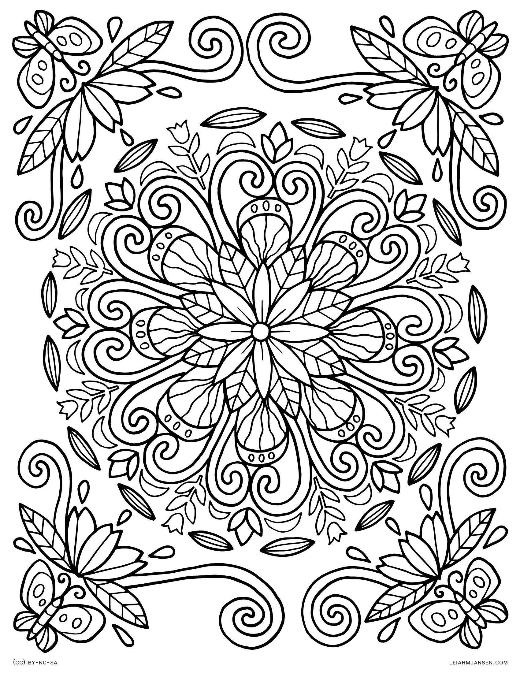 Free Printable Coloring Sheets Spring For Adults  Mandala Coloring Pages Nature to Print
