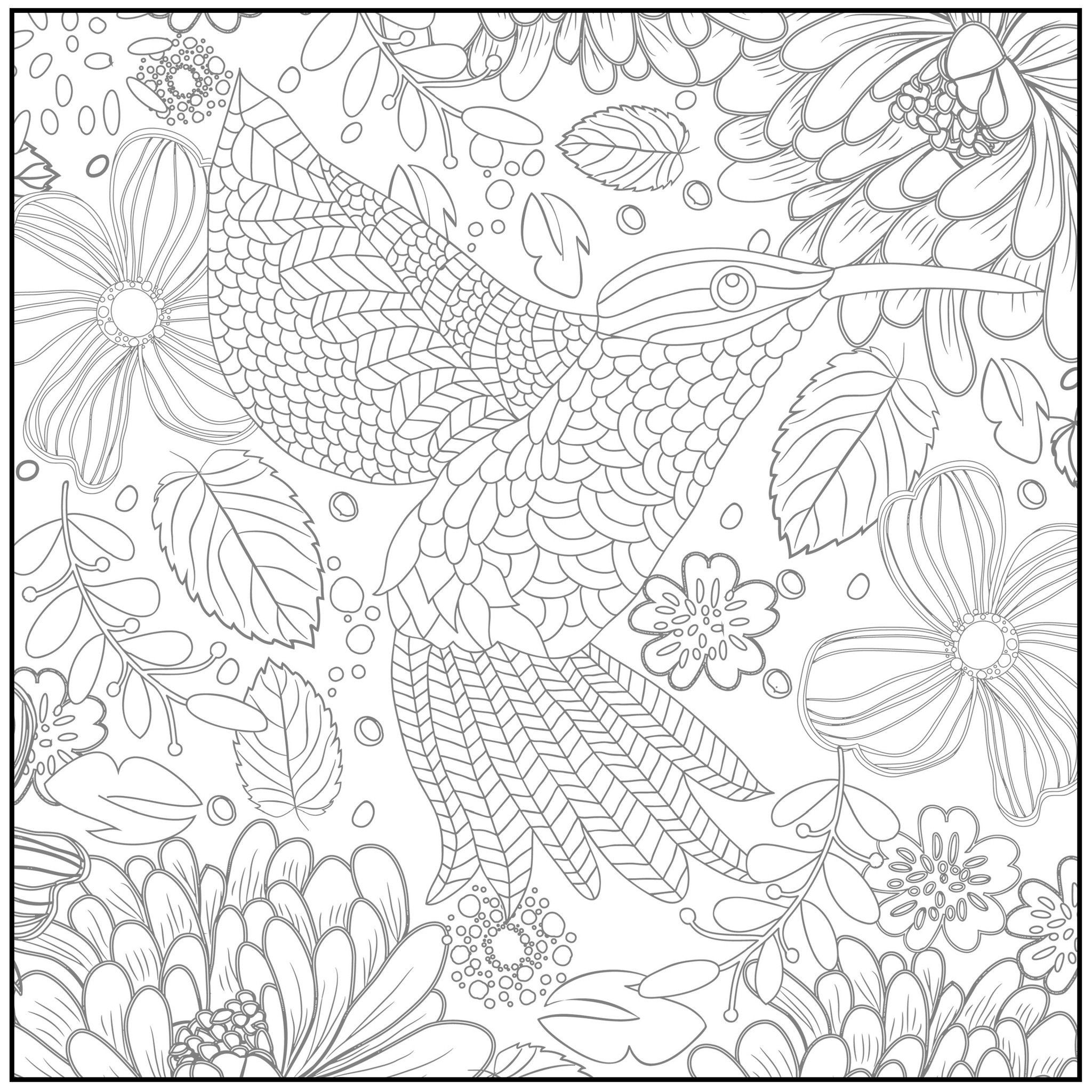 Free Printable Coloring Sheets Spring For Adults  Adult Coloring Pages Free Spring Coloring Home