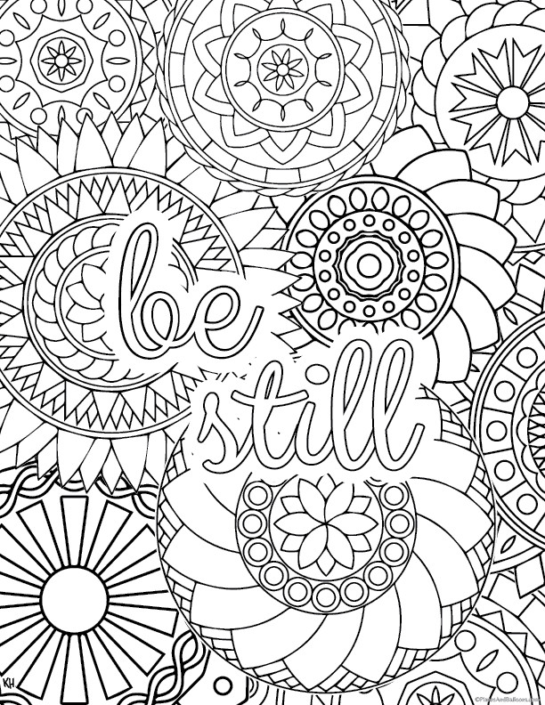 Free Printable Coloring Sheets Stress Relief  Stress relief coloring pages to help you find your Zen again