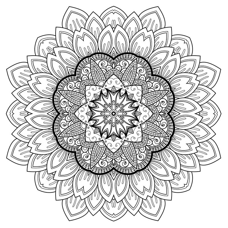 Free Printable Coloring Sheets Stress Relief  Free Downloadable Stress Relief Coloring Arts – HerbalShop