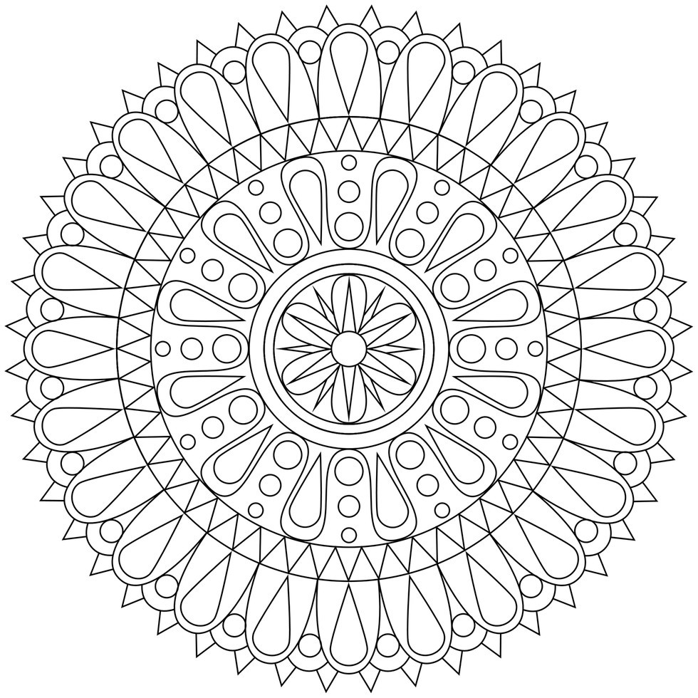 Free Printable Coloring Sheets Stress Relief  These Printable Mandala And Abstract Coloring Pages