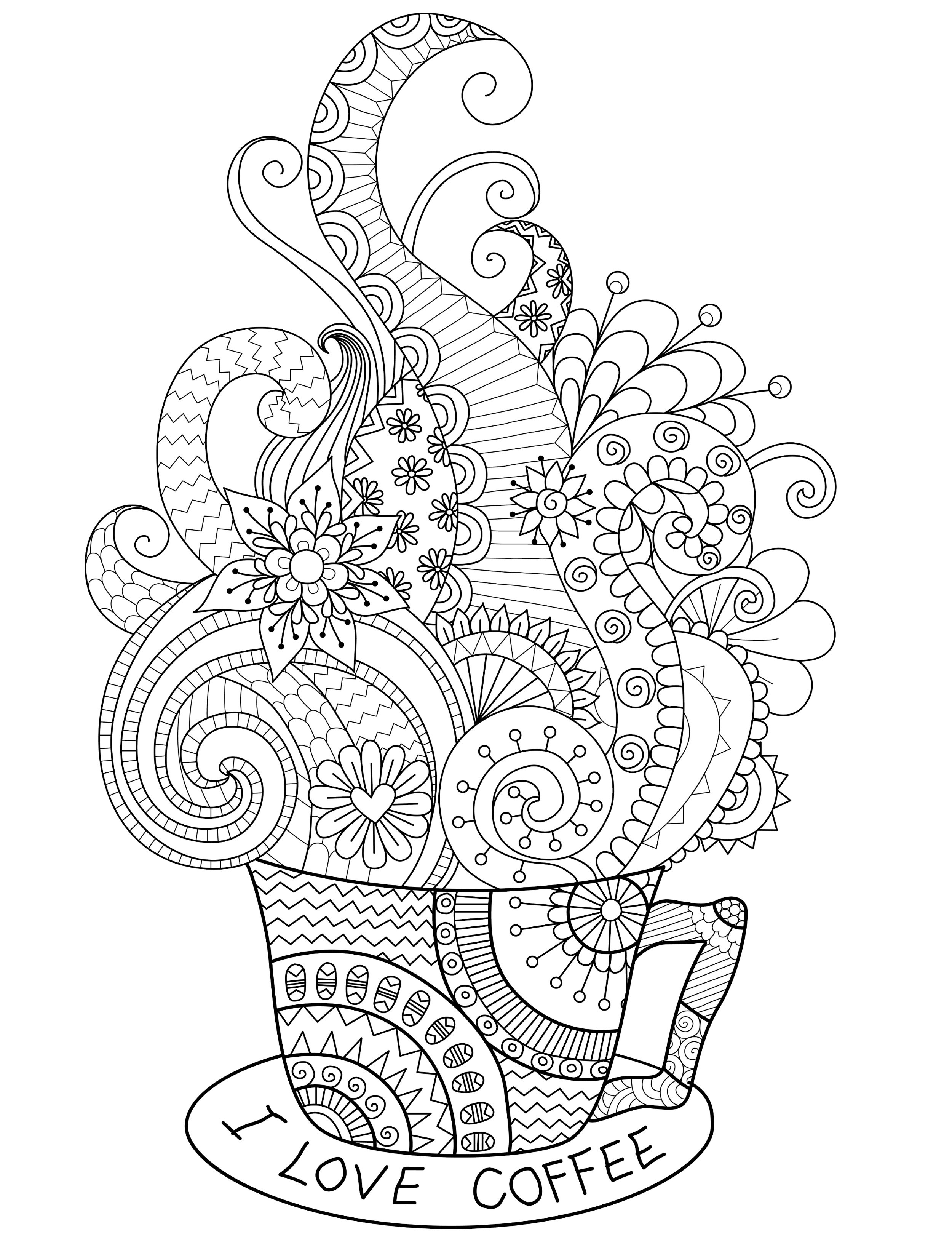 Free Printable I Love You Coloring Pages For Adults  20 Gorgeous Free Printable Adult Coloring Pages Page 10