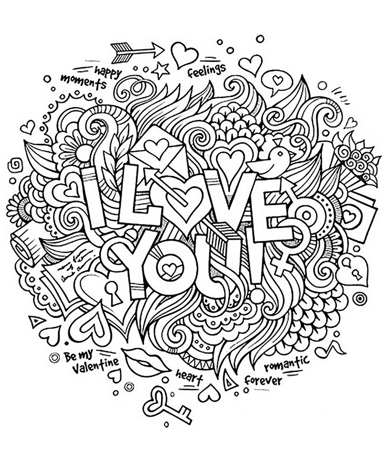 Free Printable I Love You Coloring Pages For Adults  I love you Quotes Adult Coloring Pages