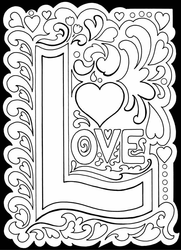 Free Printable I Love You Coloring Pages For Adults  Wel e to Dover Publications Coloring pages