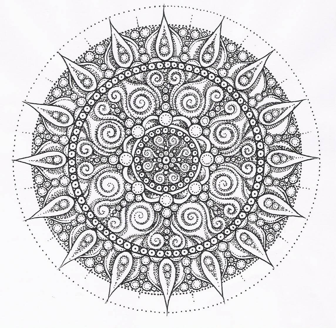 Free Printable Mandala Coloring Pages For Adults  free printable mandala coloring pages for adults