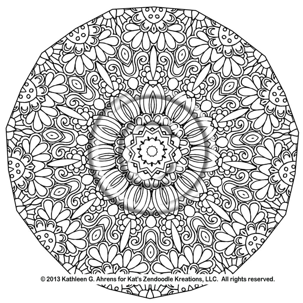 Free Printable Mandala Coloring Pages For Adults  Printable plex Mandala Coloring Pages Printable 360