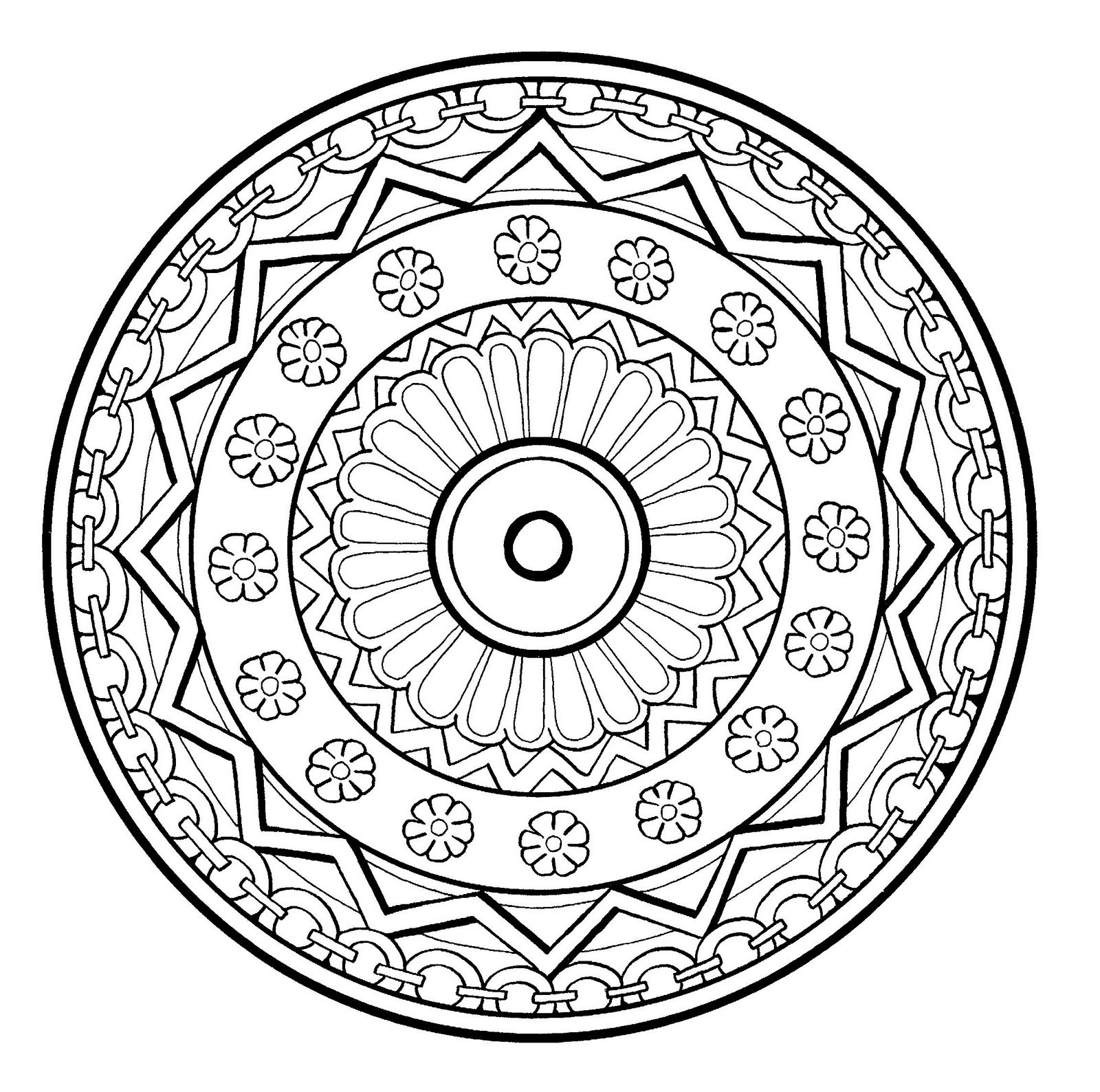 Free Printable Mandala Coloring Pages For Adults  28 Free Printable Mandala Coloring Pages for Adults