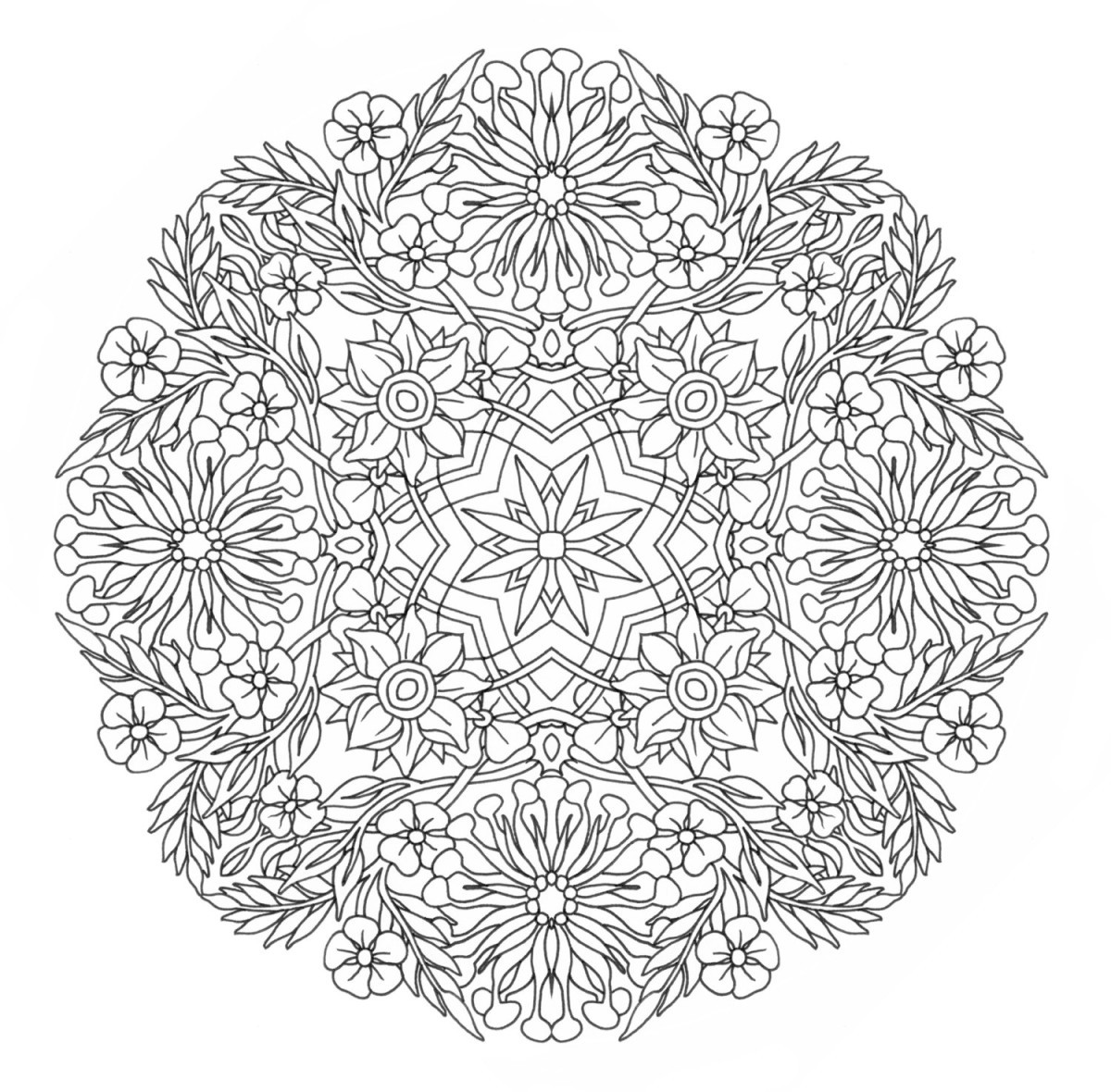 Free Printable Mandala Coloring Pages For Adults  47 Awesome Free line Coloring Pages for Adults