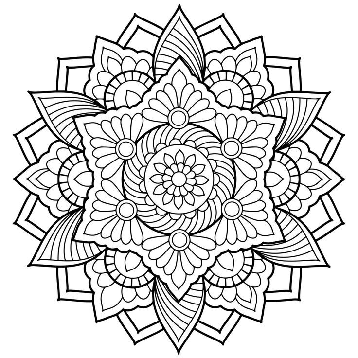Free Printable Mandala Coloring Pages For Adults  Free Printable Mandalas Coloring Pages Adults Printable