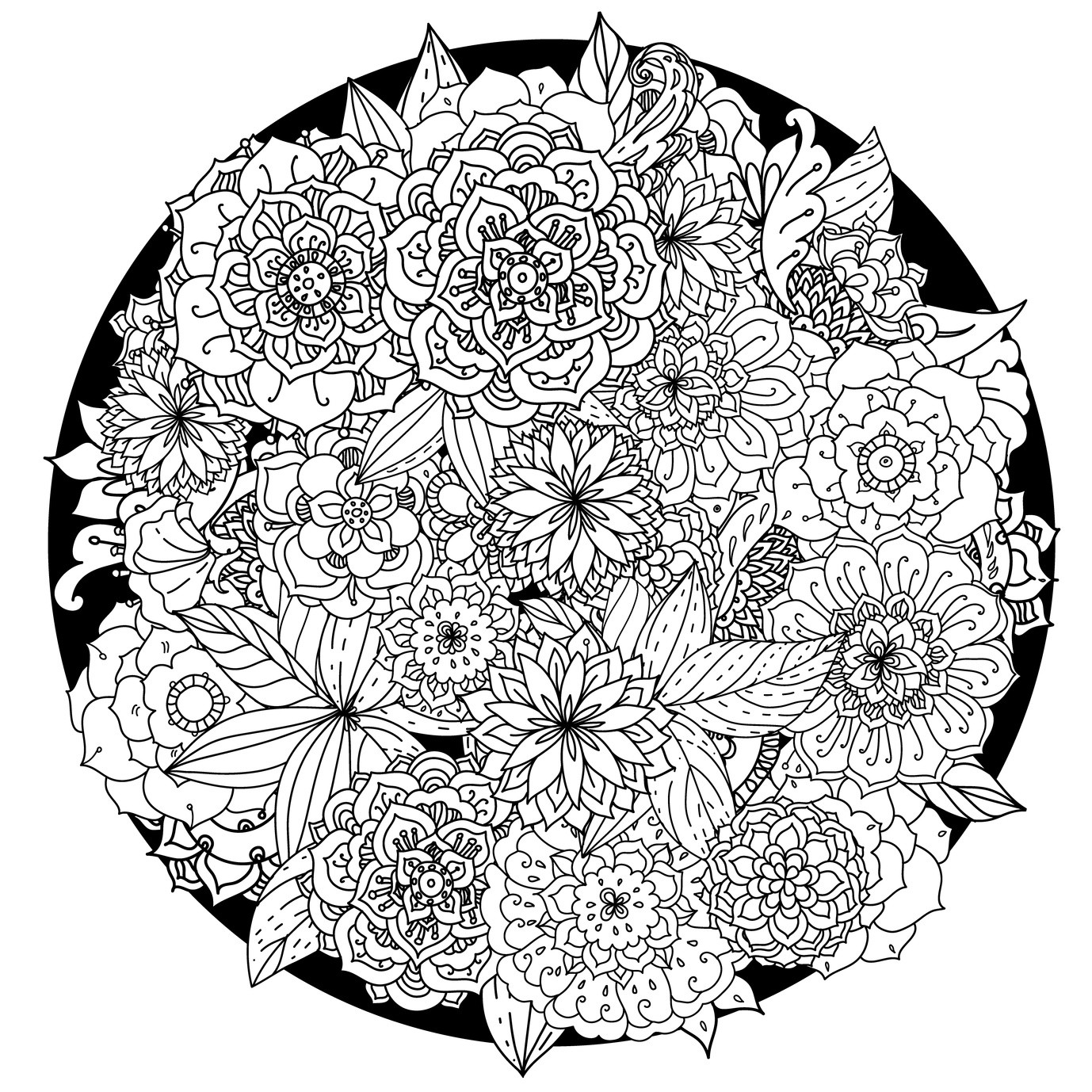 Free Printable Mandala Coloring Pages For Adults  Flower Mandala Coloring Pages coloringsuite