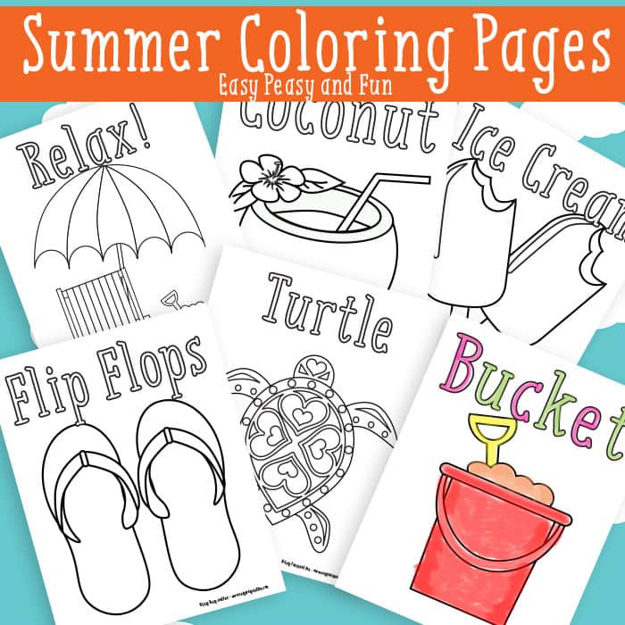Free Printable Summer Coloring Pages  Summer Coloring Pages Free Printable Easy Peasy and Fun