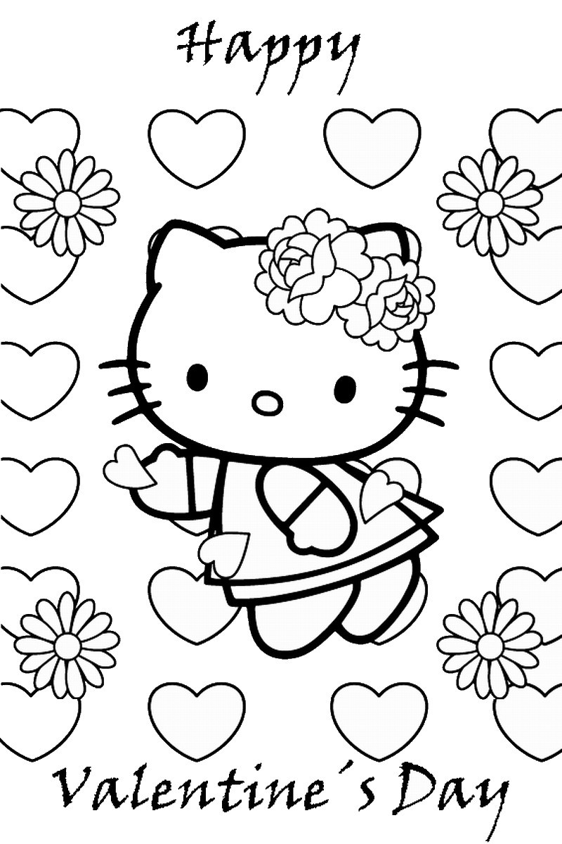 Free Printable Valentines Day Coloring Pages  Valentine's Day Coloring Pages