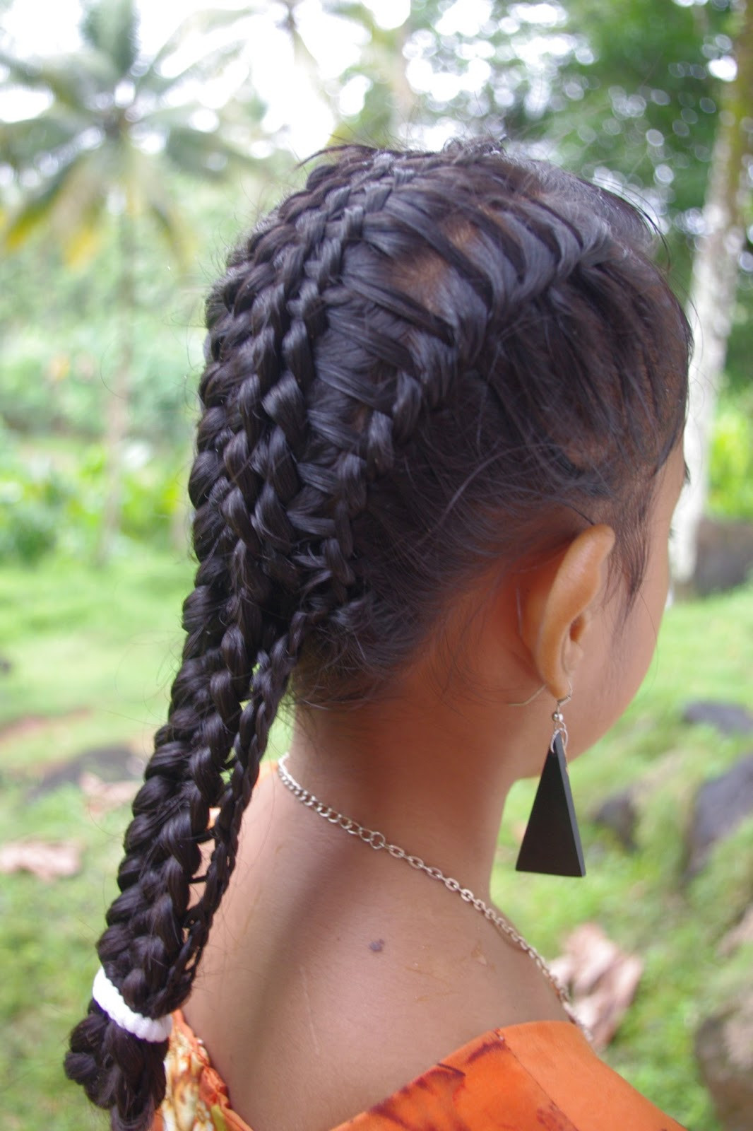 French Braid With Weave Hairstyles  Braids & Hairstyles for Super Long Hair Micronesian Girl