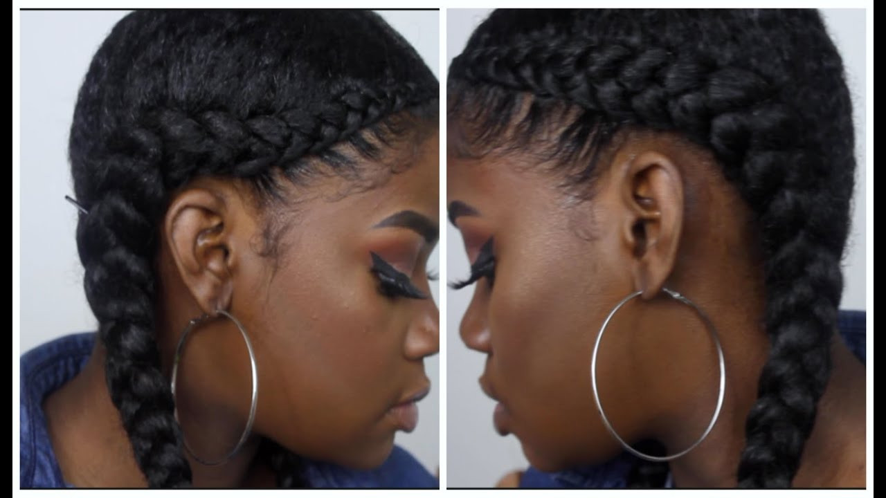 French Braid With Weave Hairstyles  Two French Braid Hairstyles With Weave
