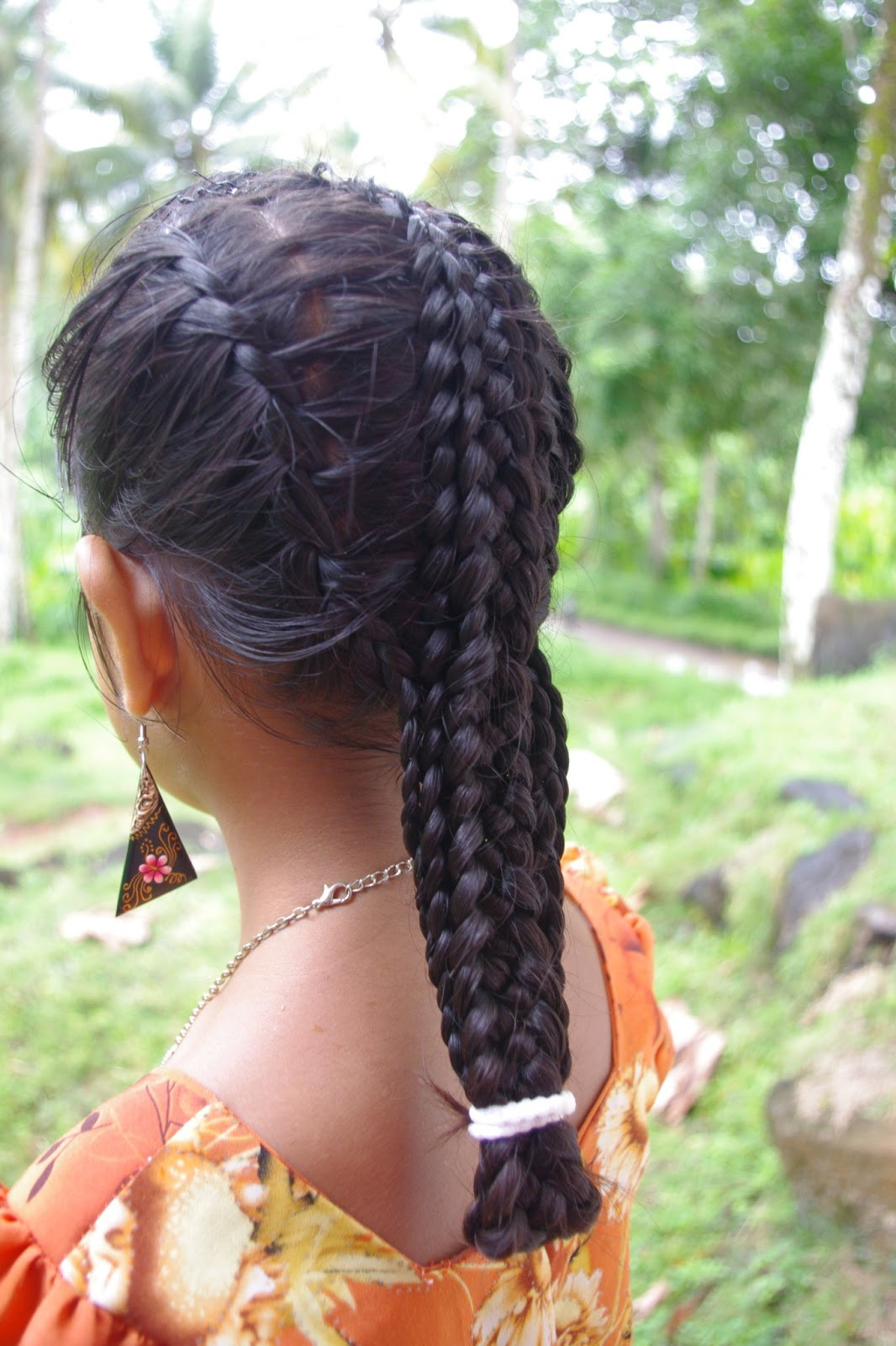 French Braid With Weave Hairstyles  Micronesian Girl Basket Weave French Braids
