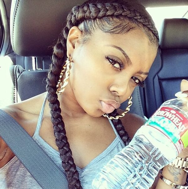 French Braid With Weave Hairstyles  Two Braids Hairstyles