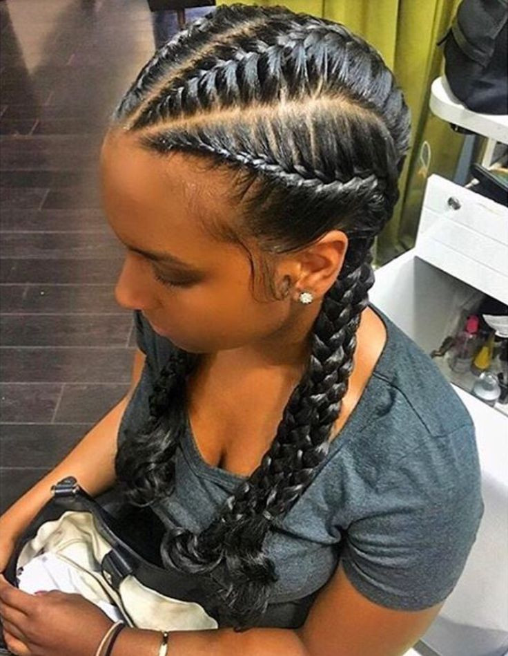 French Braid With Weave Hairstyles  Best 25 French braids black hair ideas on Pinterest