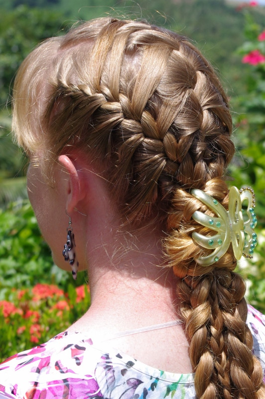 French Braid With Weave Hairstyles  Braids & Hairstyles for Super Long Hair Basket Weave