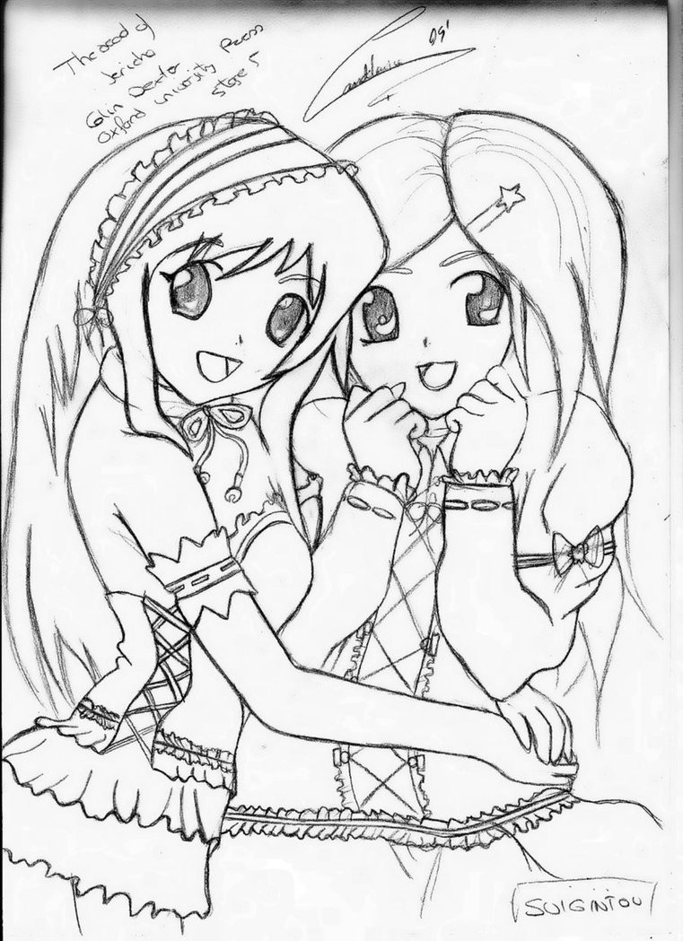 Friendship Coloring Pages For Girls  Best Friends Forever Coloring Pages