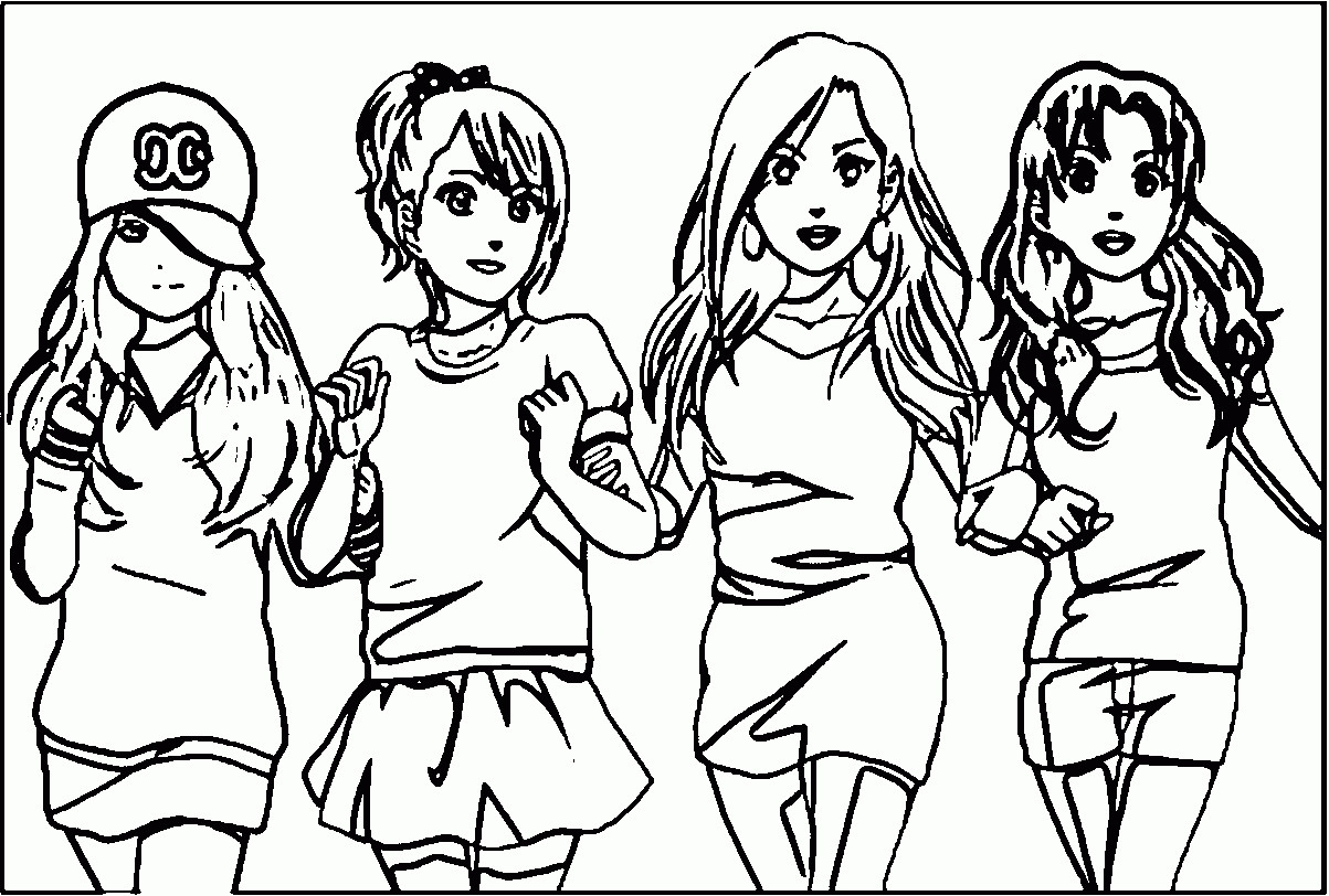 Friendship Coloring Pages For Girls  Coloring Pages Best Friends forever Printable