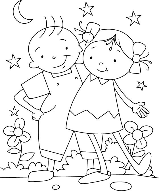 Friendship Coloring Pages For Girls  Friendship Coloring Pages Best Coloring Pages For Kids