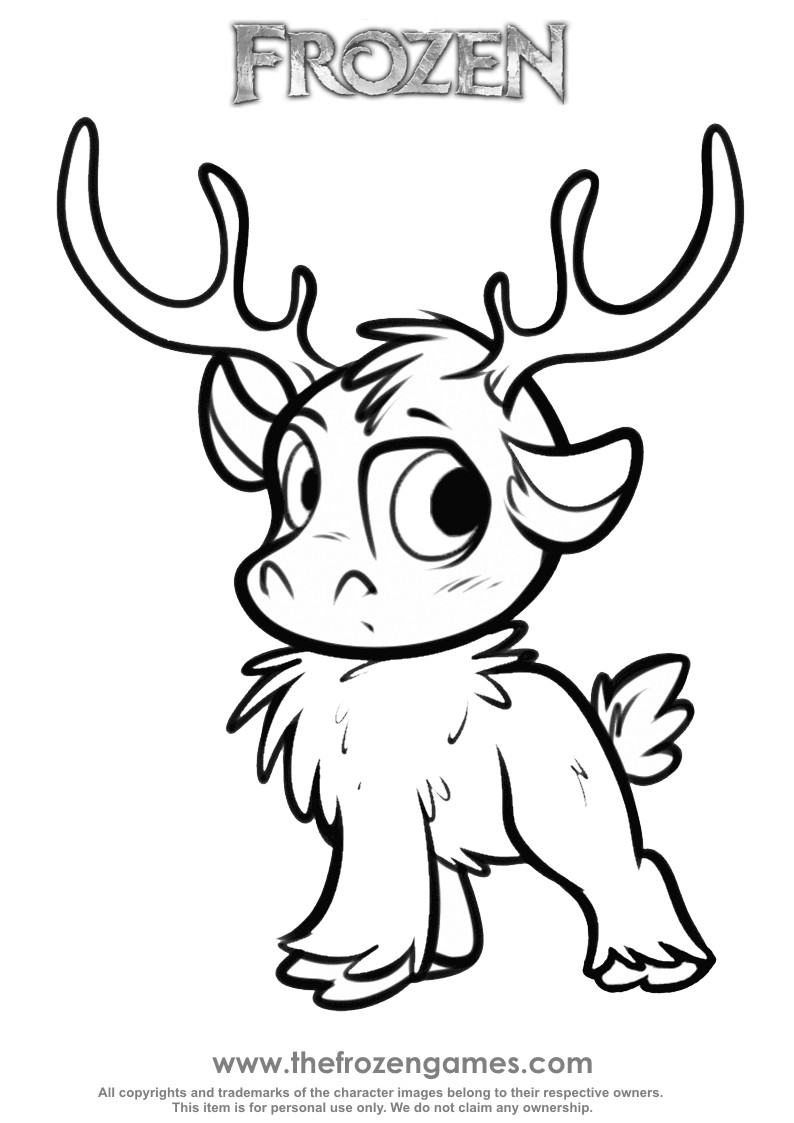 Frozen Coloring Pages For Girls  Frozen Coloring Sven as a cub Frozen Games