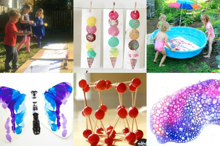 Best ideas about Fun Art Activities For Kids . Save or Pin 100 Summer Crafts & Activities for Kids for a FUN Now.