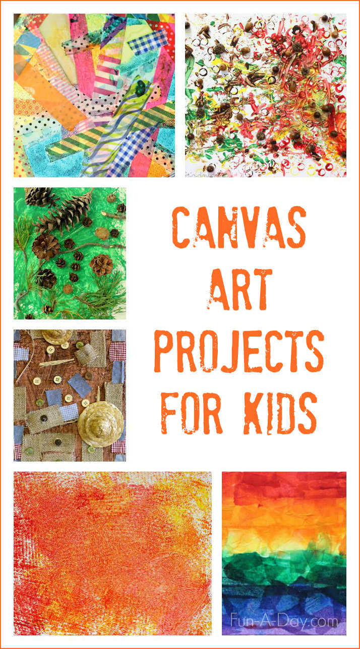 Best ideas about Fun Art For Kids . Save or Pin Canvas Art Ideas for Kids to Make Now.