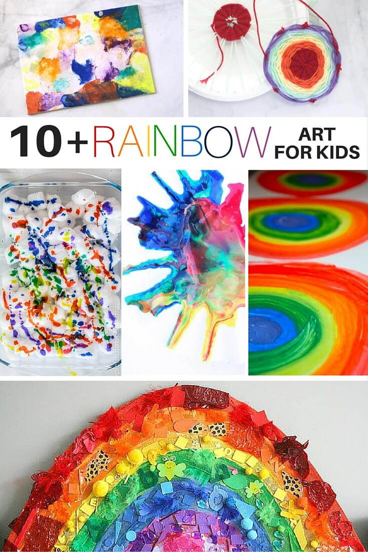 Best ideas about Fun Art For Kids . Save or Pin 10 Rainbow Art Activities for Kids ⋆ Sugar Spice and Glitter Now.
