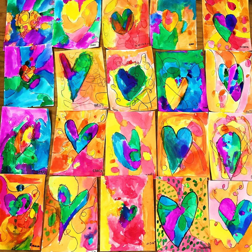 Best ideas about Fun Art For Kids . Save or Pin Kids Heart Art Project • Color Made Happy Now.