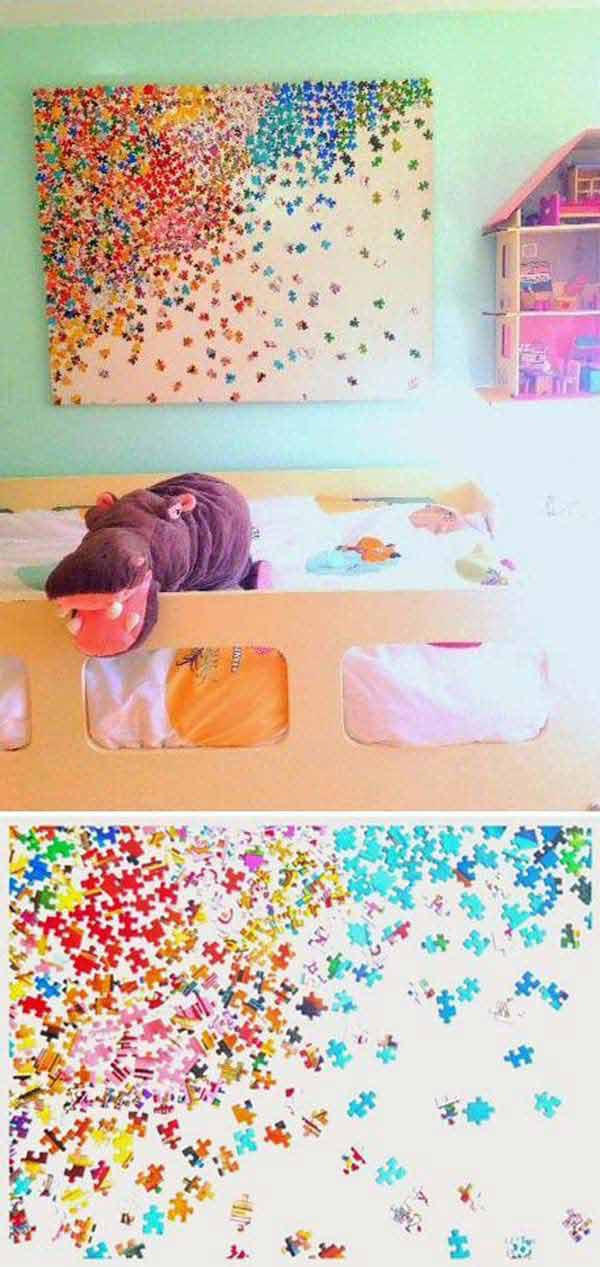 Best ideas about Fun Art For Kids . Save or Pin Top 28 Most Adorable DIY Wall Art Projects For Kids Room Now.