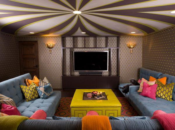 Best ideas about Fun Basement Ideas . Save or Pin 20 Cool Basement Ceiling Ideas Hative Now.