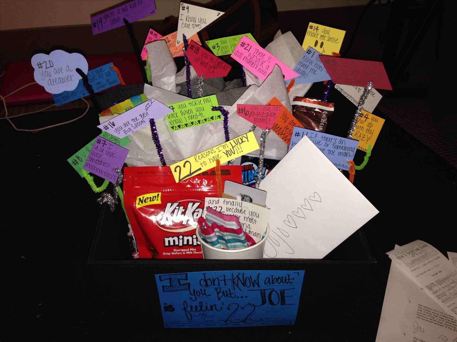 Best ideas about Fun Gift Ideas For Boyfriend . Save or Pin Idea birthday shoebox birthday funny t ideas for Now.