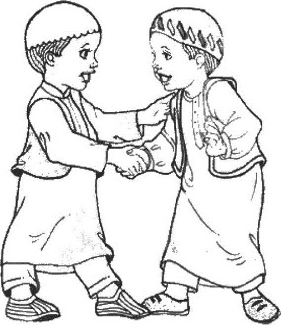Fun Islamic Coloring Sheets For Kids  Isra Miraj Islamic Coloring Pages 2012 family holiday