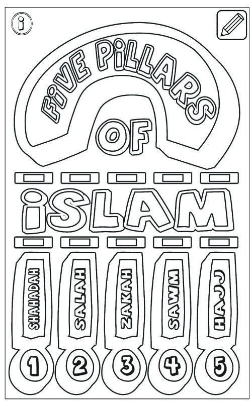 Fun Islamic Coloring Sheets For Kids  5 Pillars of Islam Coloring Pages Coloring Pages