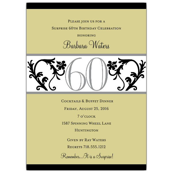 Best ideas about Funny 60th Birthday Sayings . Save or Pin 4 Exceptional Wording For 60th Birthday Invitations Now.