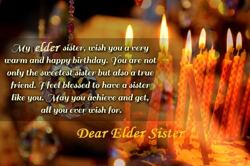 Funny Birthday Wishes For Elder Sister  Birthday Wishes For Elder Sister Happy Birthday Quotes