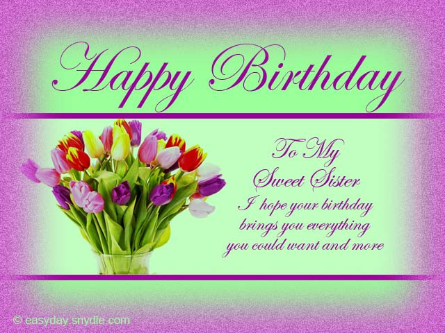 Funny Birthday Wishes For Elder Sister  Birthday Wishes for Sister Easyday