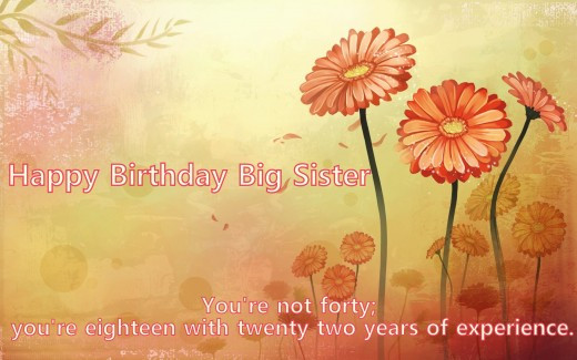 Funny Birthday Wishes For Elder Sister  Wonderful Greetings Birthday Wishes For Elder Sister