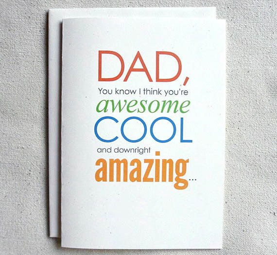 Funny Daddy Birthday Cards  Father Birthday Card Funny Dad You know I think you re