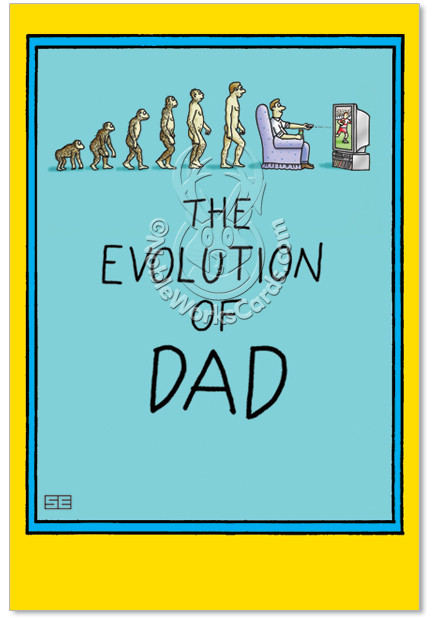 Funny Daddy Birthday Cards  Dad And Darwin Cartoons Birthday Father Greeting Card Stan