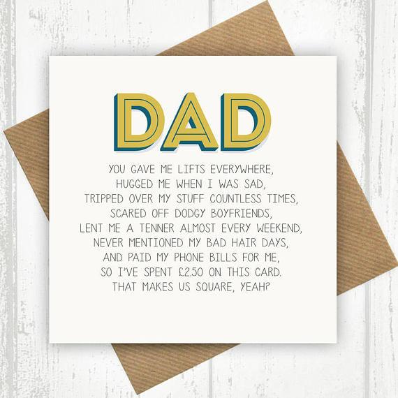 Funny Daddy Birthday Cards  Funny Dad Card Dad Birthday Card Funny Birthday Card for