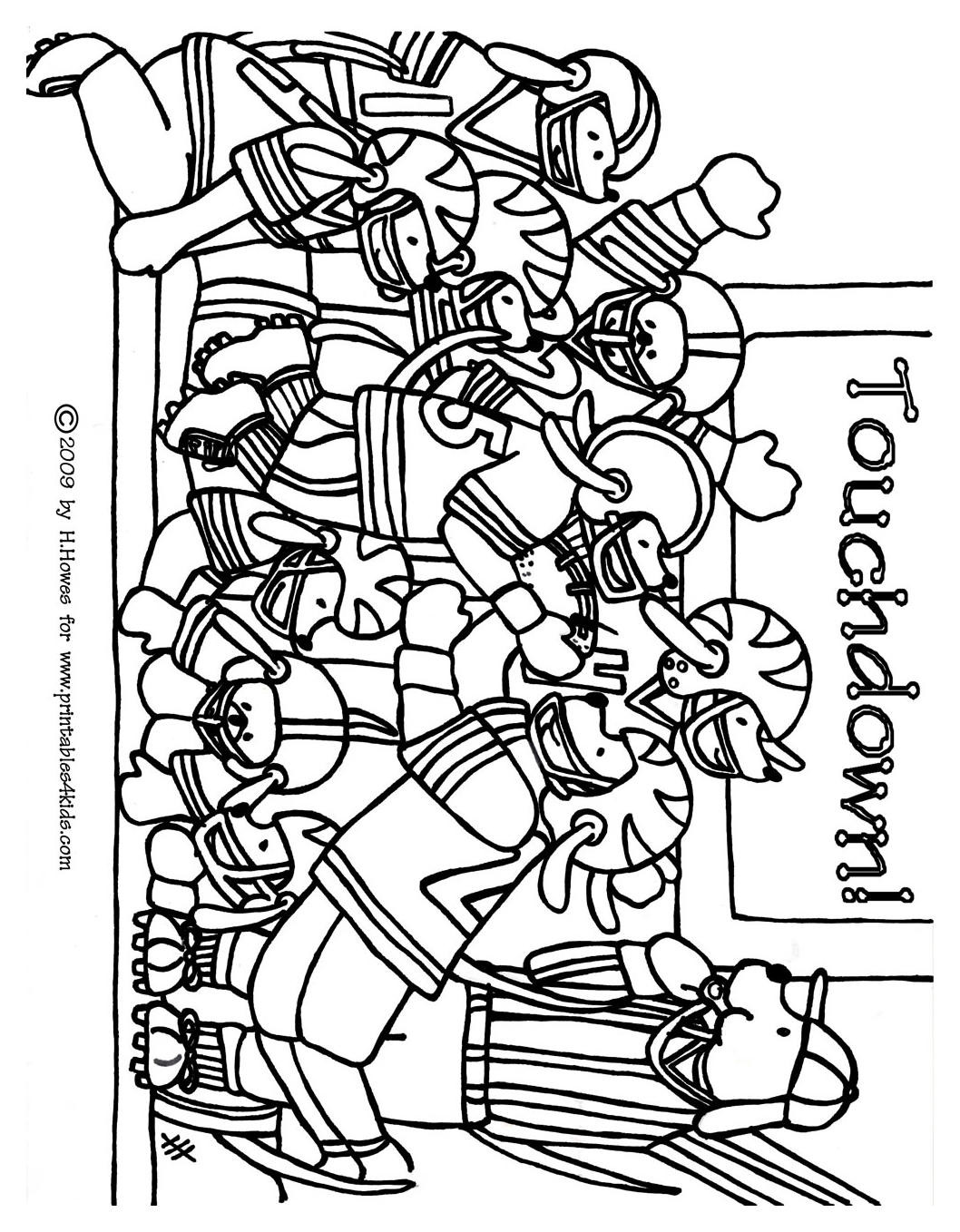 Game Coloring Pages For Kids  Football Game Coloring Pages Coloring Home