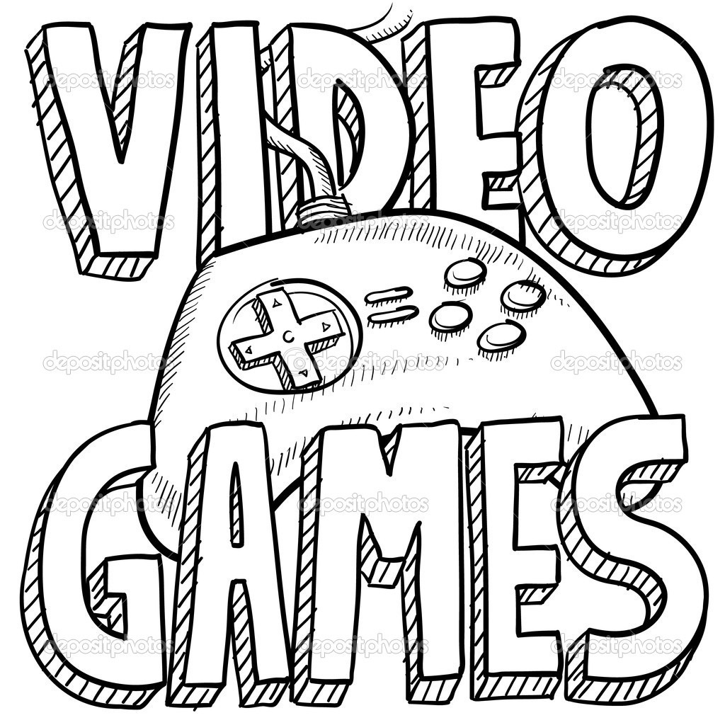 Game Coloring Pages For Kids  Video Game Coloring Pages coloringsuite