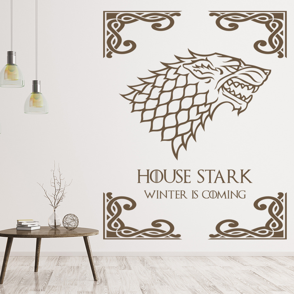 Best ideas about Game Of Thrones Wall Art . Save or Pin House Stark Wall Sticker Game of Thrones Wall Art Now.