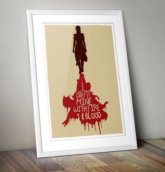 Best ideas about Game Of Thrones Wall Art . Save or Pin 24 Game of Thrones Prints to Decorate Your Wall Now.