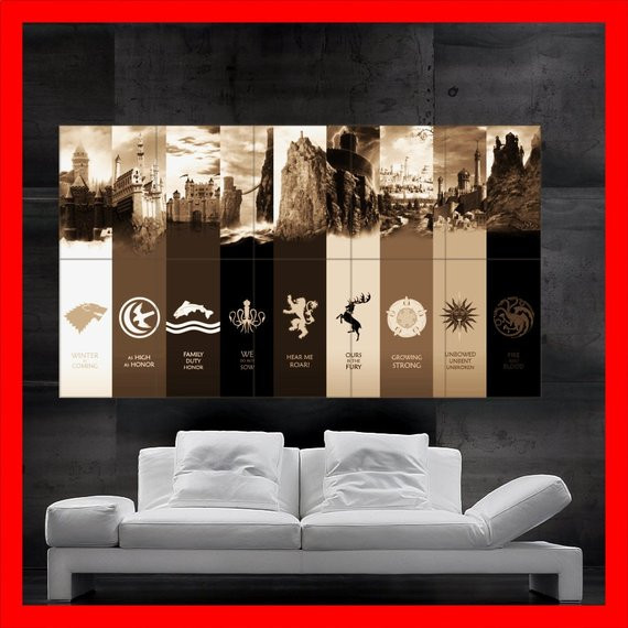 Best ideas about Game Of Thrones Wall Art . Save or Pin 301 Moved Permanently Now.
