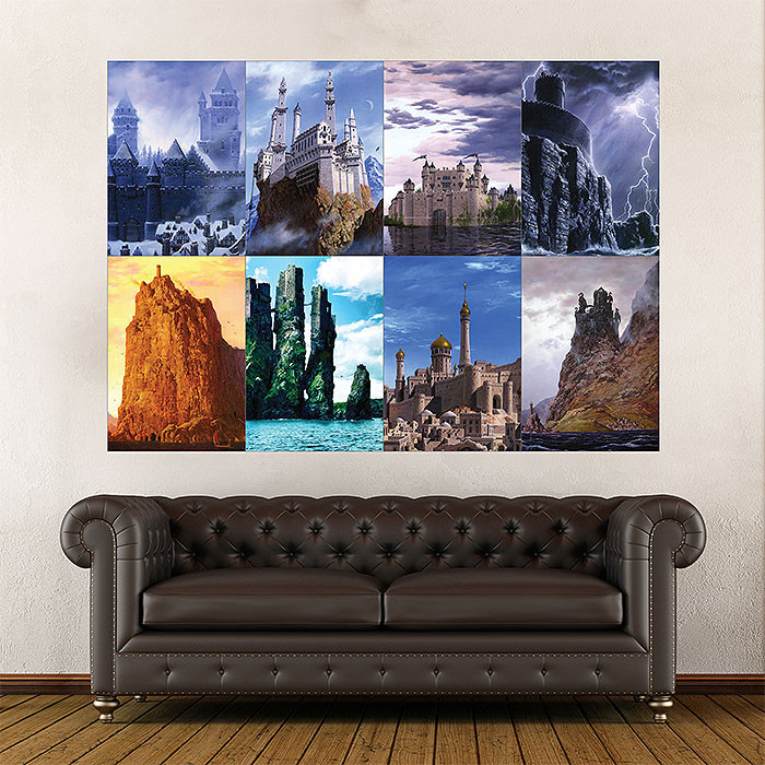 Best ideas about Game Of Thrones Wall Art . Save or Pin Game of Thrones House Castles Block Giant Wall Art Poster Now.